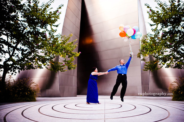 Disney Concert Hall Engagement Photography: Leon + Diana